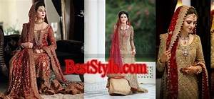 Latest Pakistani Bridal Dresses in Red For 2018 BestStylo