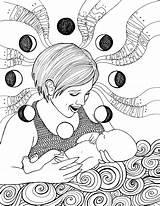 Pregnant Coloring Getdrawings Getcolorings Printable sketch template