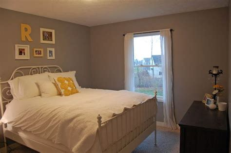 beige carpet  cathedral grey paint behr love