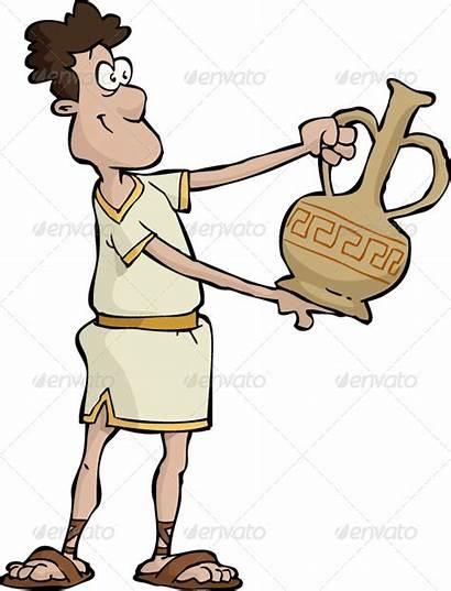 Ancient Greek Grec Altgriechisch Cartoon Vase Clip