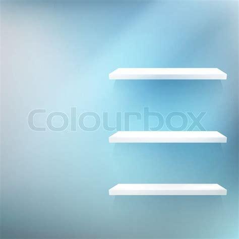 regal an der wand leeres wei 223 es holz regal an der wand vektorgrafik colourbox