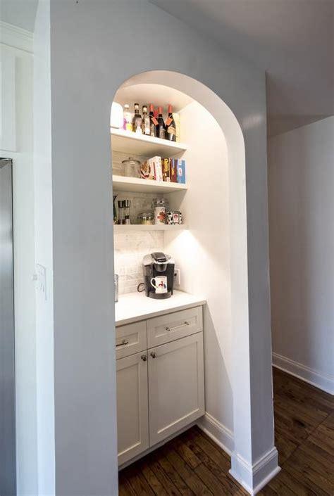 kitchen  coffee station nook cottage kitchen