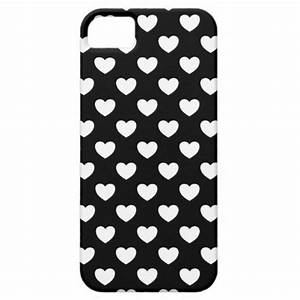 Cool Black And White Hearts Polka Dots Style iPhone SE/5 ...