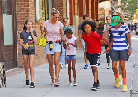 Heidi klum with children leni samuel and. Heidi Klum Steps Out With Her and Seal's Four Kids — See ...