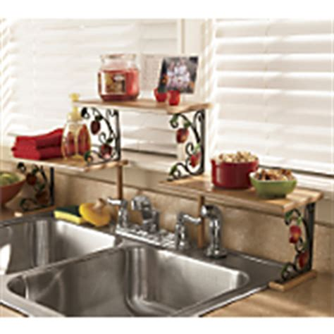 Red Over The Sink Shelf by Kitchen Shelf At Country Door