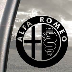 Alfa Romeo Black Decal Truck Bumper Window Vinyl Sticker