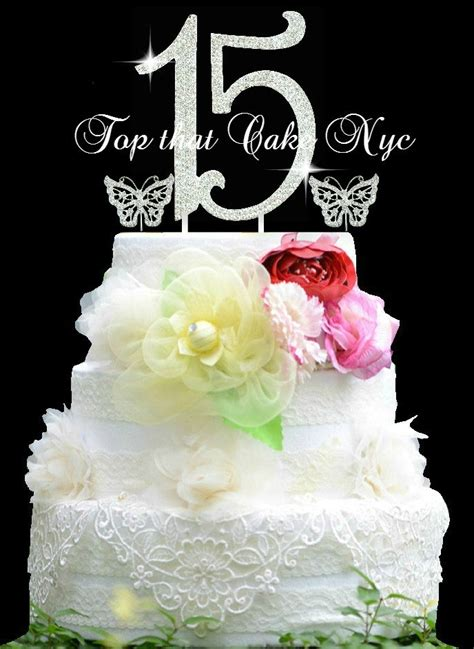 quinceanera cake toppers large quinceanera 15 birthday cake topper in