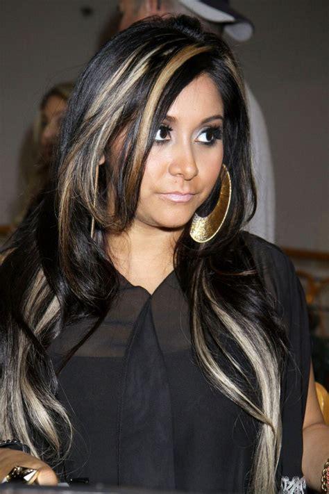 black hair  blonde highlights black hair blonde