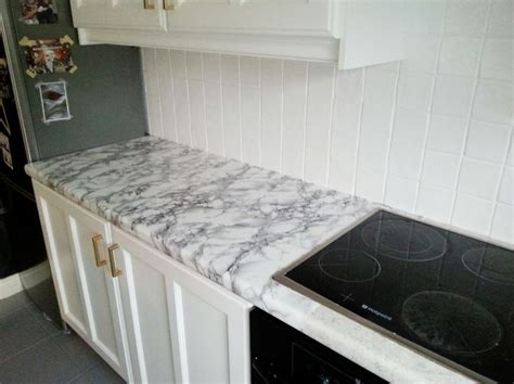 diy super cheap easy marble  counters