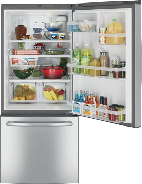 gdeeskss ge   cu ft bottom freezer refrigerator stainless steel