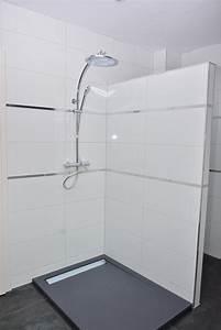 stunning salle de bain blanche et grise images home With salle de bain gris et blanc