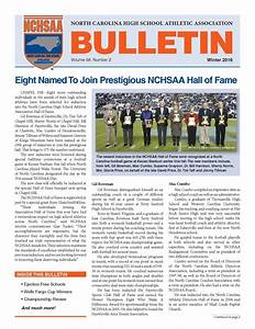 Bulletin Newsletter North Carolina High School