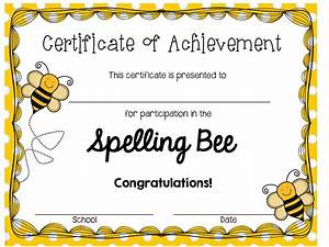 spelling bee certificates printable invitation templates With spelling bee invitation template