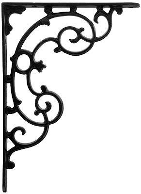 victorian scroll design shelf bracket      house  antique hardware