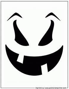 Tete De Citrouille Pour Halloween : pochoir imprimer pochoir citrouille ~ Melissatoandfro.com Idées de Décoration
