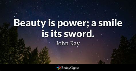 john ray beauty  power  smile   sword