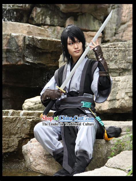 ancient chinese swordsman costume complete set  men
