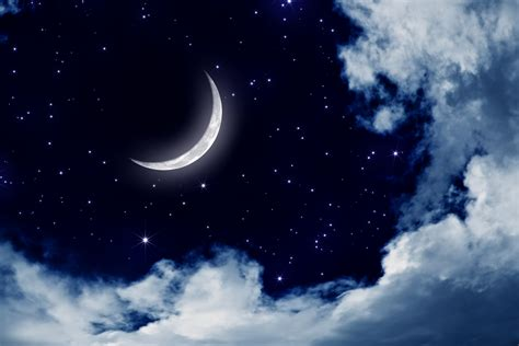 Moon And Clouds Wallpaper Moonlight Moon Night Nature Landscape Clouds Stars Sky Wallpaper 3883x2589 162868 Wallpaperup