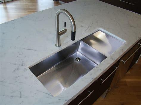 undermount sink  drainboard kitchen contemporary