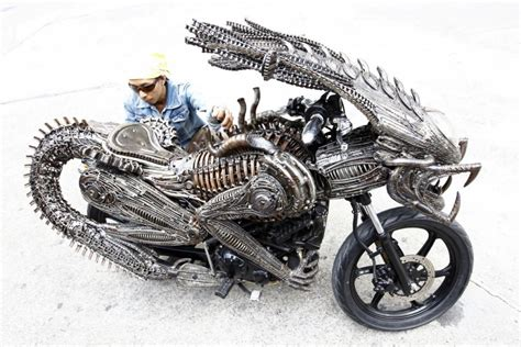 Artistic Motorcycle Made From Recycled Materials [photo