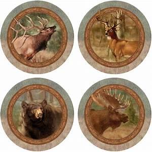 Thirstystone, Drink, Coasters, Series, Wildlife, Quartet, Set, Of, 4, Round, Coasters