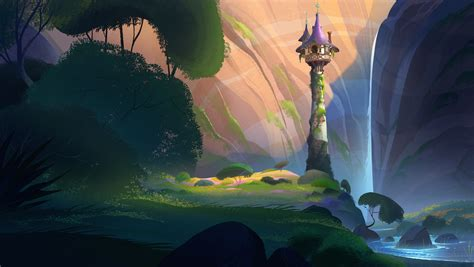 artstation tangled backgrounds batch  fiona hsieh