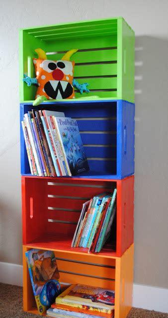 libreria con cassette di legno libreria con cassette di legno tutorial