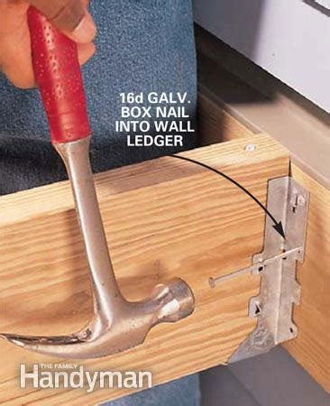 deck joist hangers nails how to install joist hangers the family handyman