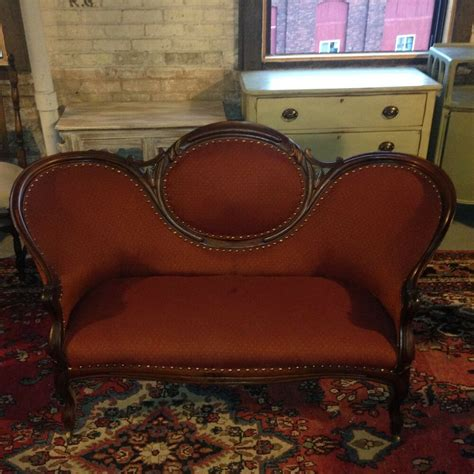 Settee Upholstery by Antique 19th Century Walnut Sofa Seat