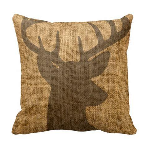rustic throw pillows rustic buck silhouette throw pillow