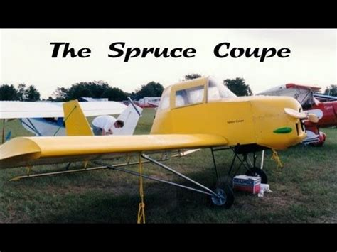 wood aircraft spruce coupe experimental amateurbuilt wood ultralight aircraft youtube
