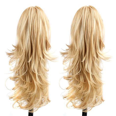 ponytail hair fake extensions curly tail natural ponytails hairextensions synthetic hairpieces claw extensiones cola postizos caballo