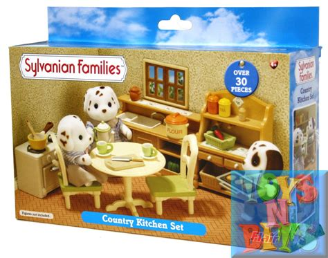 sylvanian families country kitchen set sylvanian families country kitchen set 30 pieces ebay 8421