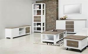 Meuble Colonne Tiroir : colonne 2 tiroirs white horse blanc acacia ~ Teatrodelosmanantiales.com Idées de Décoration