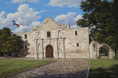 The Alamo Painting By Kyle Wood