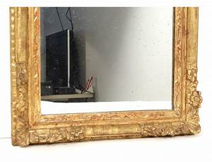 Miroir Cadre Bois : carved wooden mirror frame golden flowers frame ice regency eighteenth century antiques de laval ~ Teatrodelosmanantiales.com Idées de Décoration