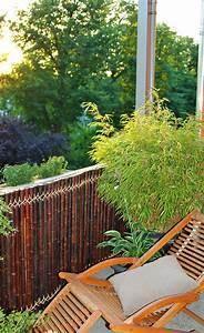 sichtschutz aus bambus sichtschutz selbstde With französischer balkon mit natürlicher sichtschutz im garten