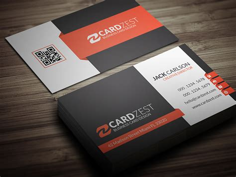 Corporate Professional Business Card Template By Mengloong
