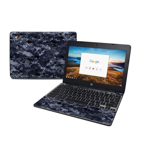 Digital Navy Camo HP Chromebook 11 G5 Skin | iStyles