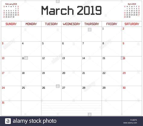 maerz planer eine monatliche planer kalender fuer maerz auf