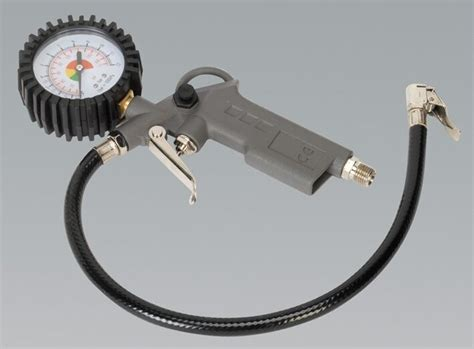 Air Line Tyre Inflator Air Gun With Gauge Car Van Lorry