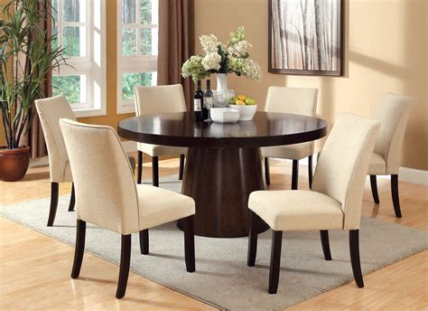circle dining table set 60 rio espresso round dining table set large round