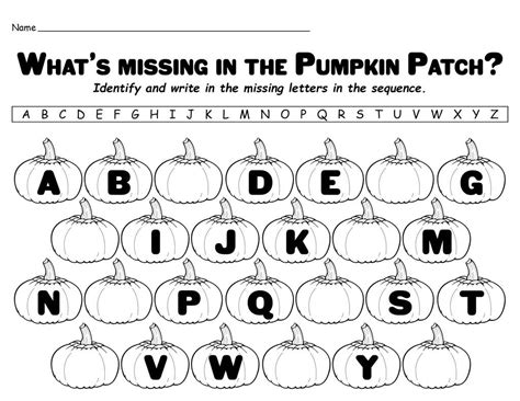 quot missing letters in the pumpkin patch quot free printable