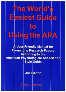 World U0026 39 S Easiest Guide To Using Apa  A User