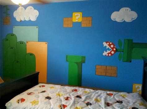 Mario Wall Murals Bedroom Design Not Saying I Could Do