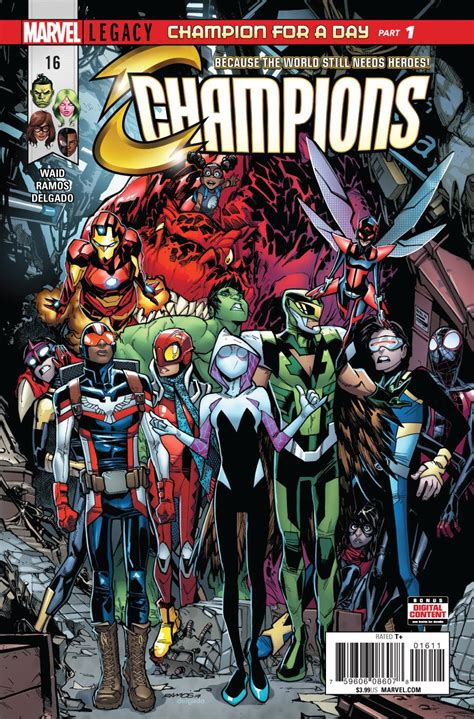 'Champions' #16 a blast of energy and pathos that's also ...