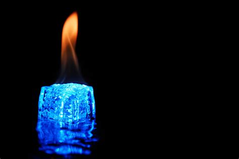 how to set ice on fire