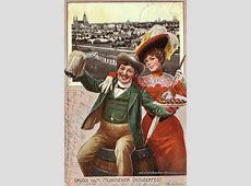 Ansichtskarten vom Oktoberfest Alte Postkarten