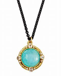 Armenta Blue Turquoise Moonstone Pendant Necklace in Blue ...