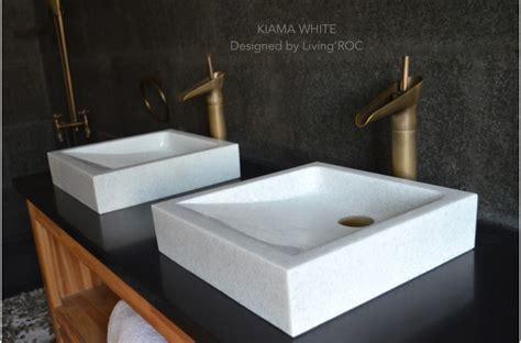 mm crystal white marble basin bathroom stone kiama white